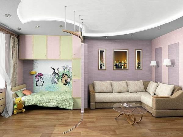 зонирование однокомнатной квартиры с ребенком фото, фото 43