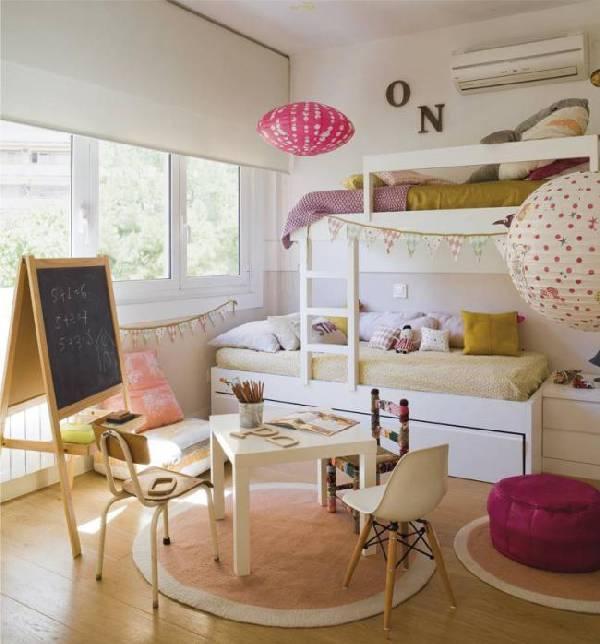 интерьер детской комнаты для двух девочек фото, фото 6