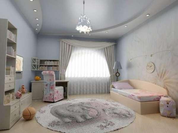 двухуровневые потолки из гипсокартона с подсветкой фото, фото 8