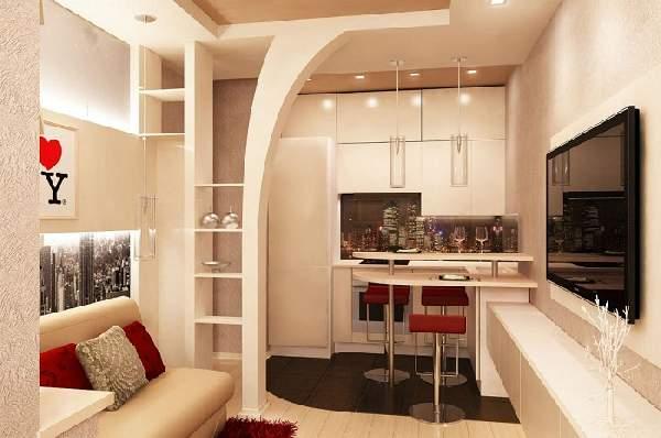 идеи зонирования однокомнатной квартиры: фото, фото 56