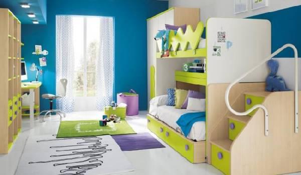 интерьер детской комнаты для 2 детей, фото 47