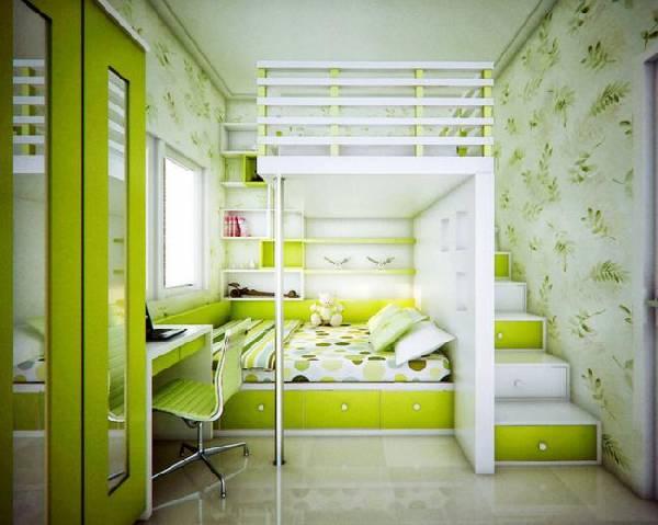 интерьер детской комнаты для двух детей, фото 54