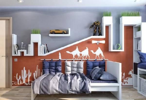 интерьер детской комнаты для двух детей, фото 55