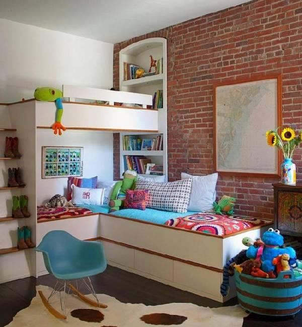 интерьер детской комнаты для двух детей, фото 56