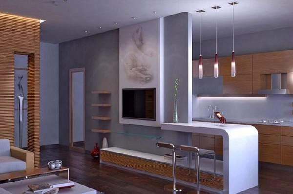 зонирование однокомнатной квартиры: фото, фото 61