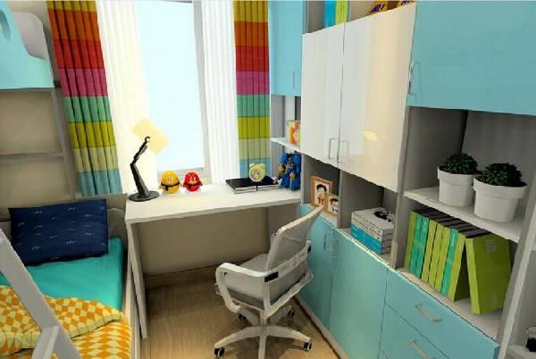 интерьер маленькой детской комнаты для двоих детей, фото 58