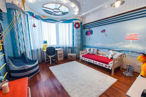 интерьер детской комнаты для мальчика 5 лет, фото 6
