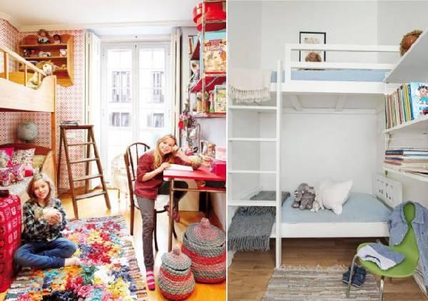 интерьер узкой детской комнаты для двоих детей, фото 64