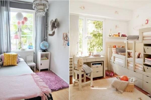 интерьер узкой детской комнаты для двоих детей, фото 65