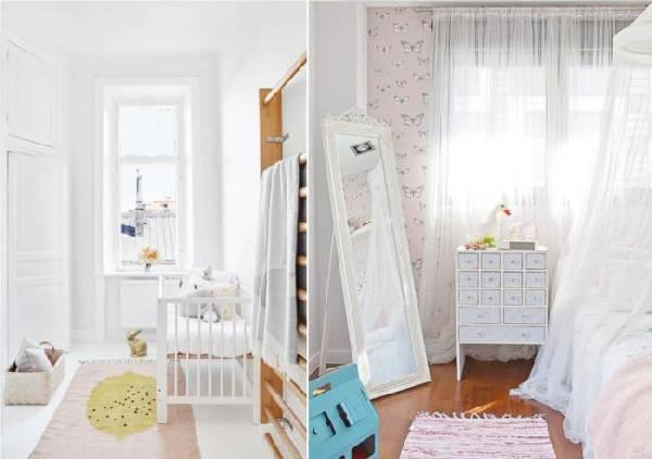 интерьер узкой детской комнаты для двоих детей, фото 67