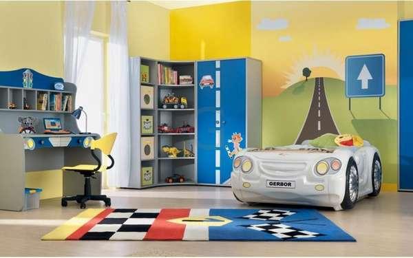 интерьер детской комнаты для мальчика дошкольника, фото 7