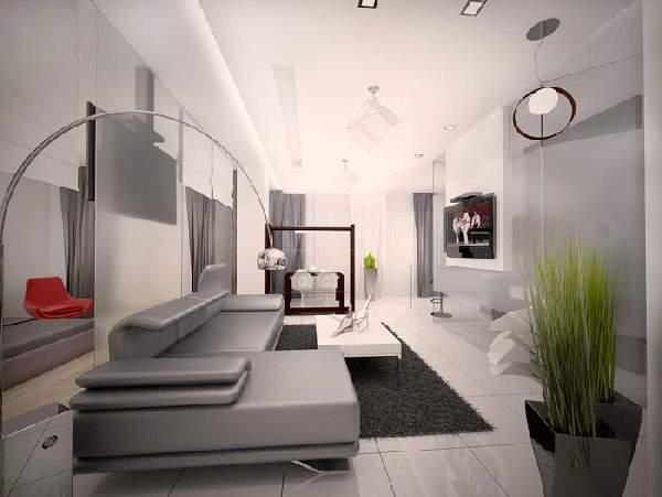 зонирование пространства в однокомнатной квартире: фото, фото 54