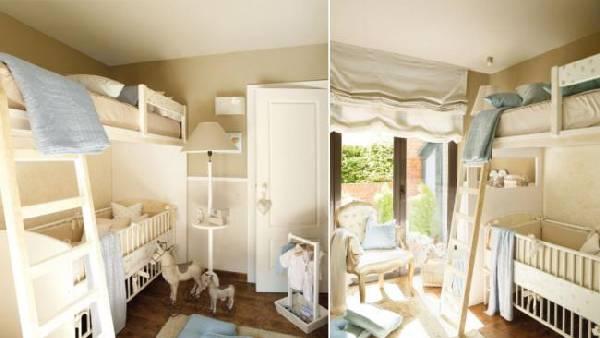 интерьер детской комнаты для двух детей фото, фото 72