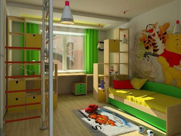 интерьер детской комнаты для мальчика 5 лет, фото 9