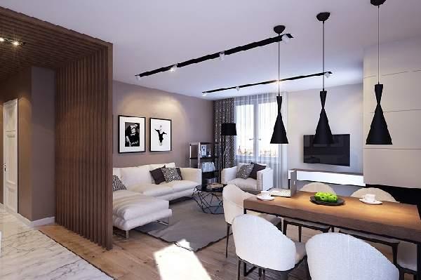зонирование однокомнатной квартиры, фото 50