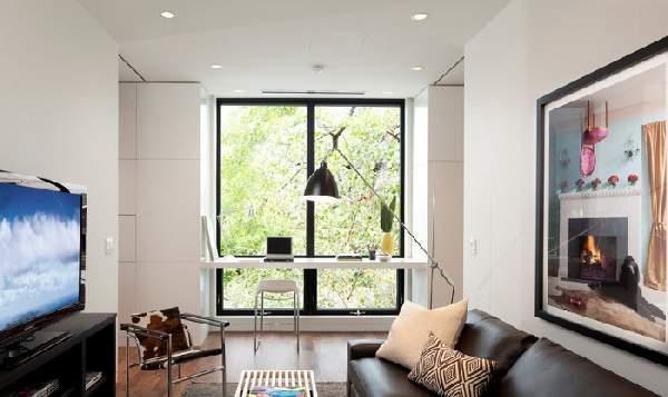 рабочее место у окна в гостиной, фото 2