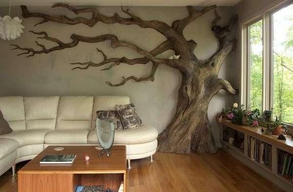 деревянное панно на стену в эко стиле, фото 33