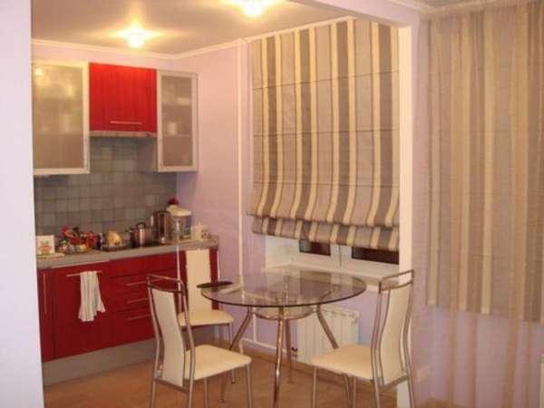римские шторы на кухню с балконом, фото 22