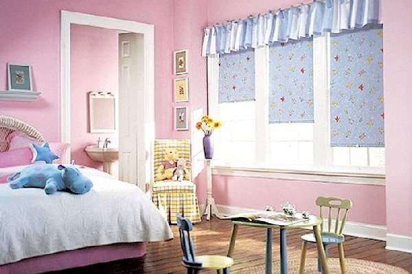 рулонные шторы в детскую комнату для девочки, фото 22
