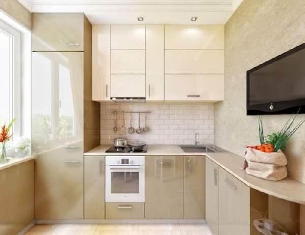 маленькие кухонные гарнитуры, фото 33