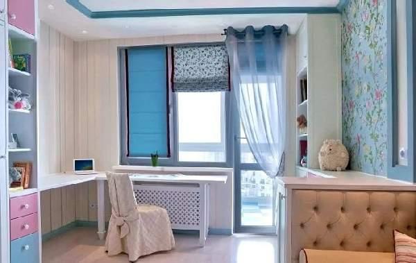 шторы с балконной дверью в детскую комнату, фото 3