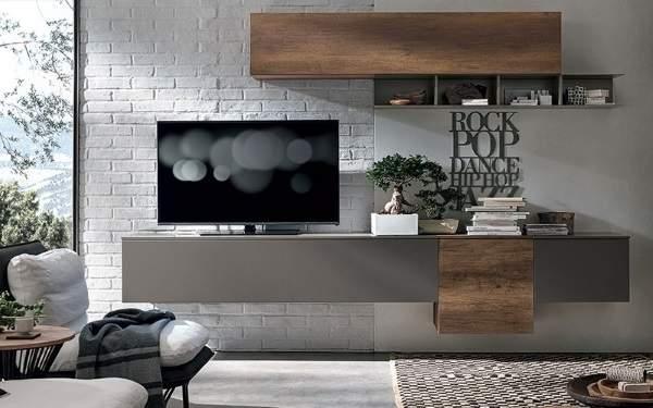 стенка в гостиную в современном классическом стиле, фото 9