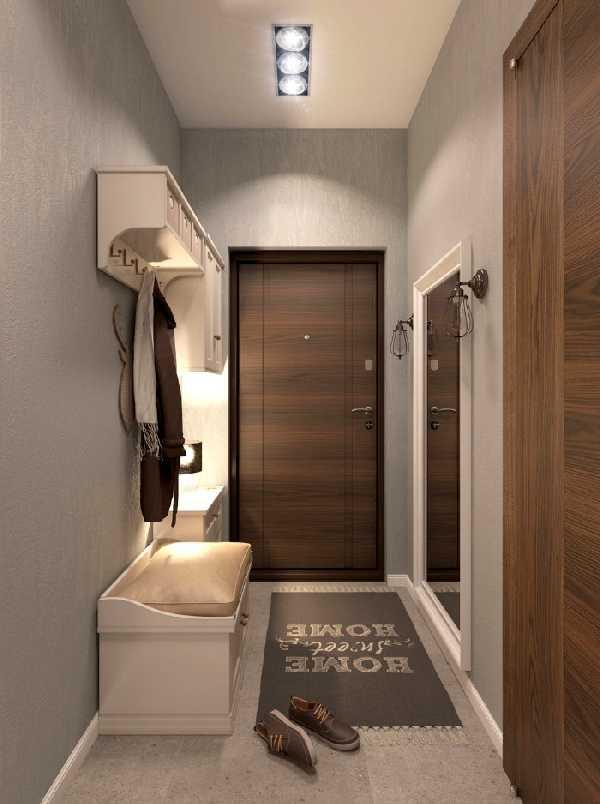 прихожая для узкого коридора, фото 15
