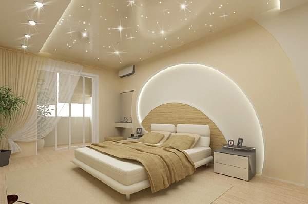 натяжные потолки в спальне дизайн фото, фото 46