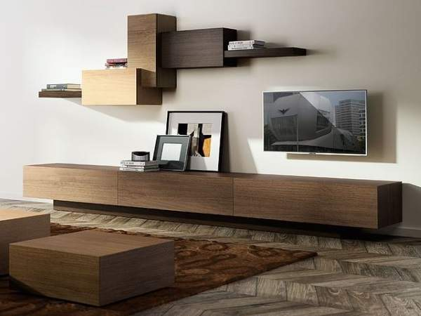 модульная стенка в гостиную в современном стиле, фото 38