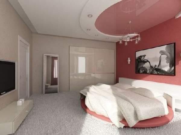 натяжные потолки для спальни виды фото, фото 47