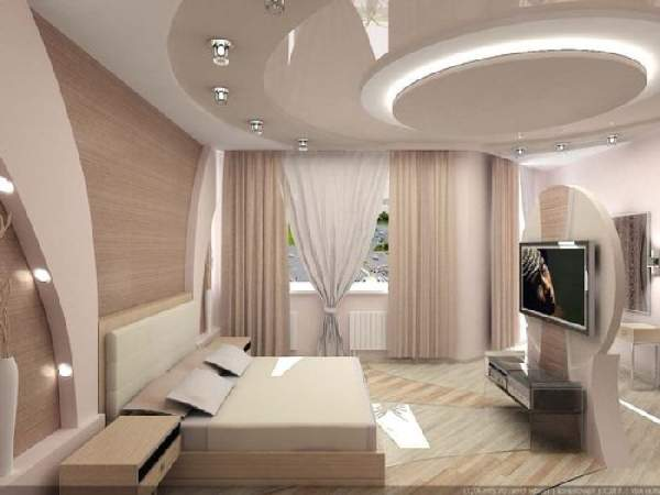 натяжные потолки с рисунком для спальни, фото 48