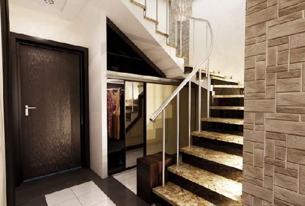 дизайн прихожей с лестницей, фото 18