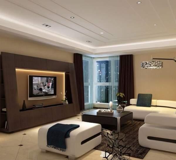 стенка в гостиную в современном классическом стиле, фото 10