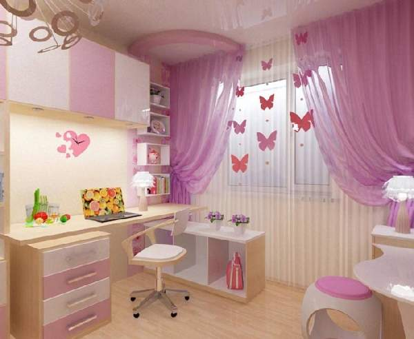 дизайн штор для детской комнаты для девочки, фото 7