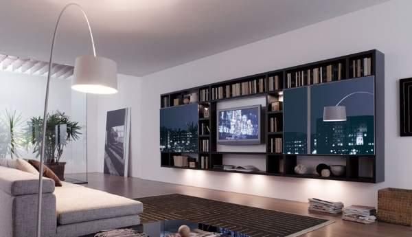 стенка навесная в гостиную в современном стиле, фото 33