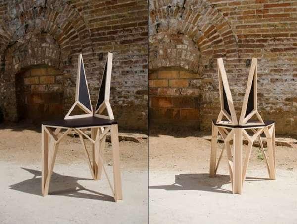 деревянные дизайнерские стулья, фото 34