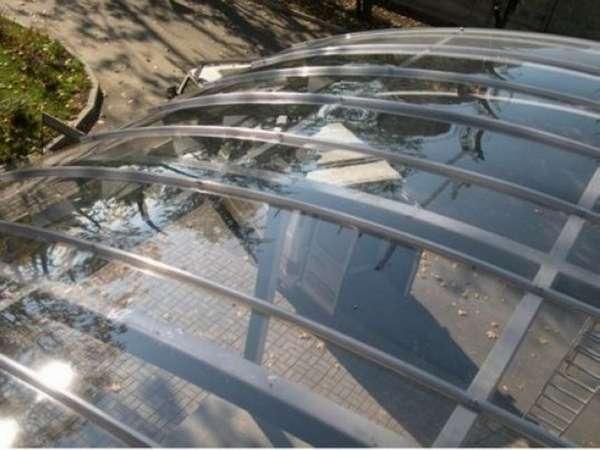 навесы из поликарбоната во дворе частного дома фото, фото 2