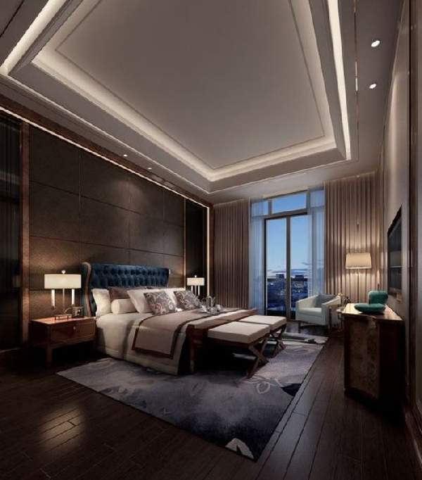 натяжной потолок для спальни двухуровневый, фото 27