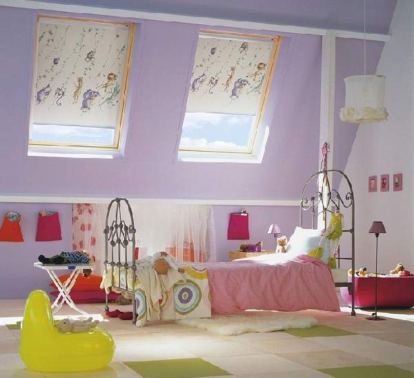 идеи штор для детской комнаты девочки, фото 9