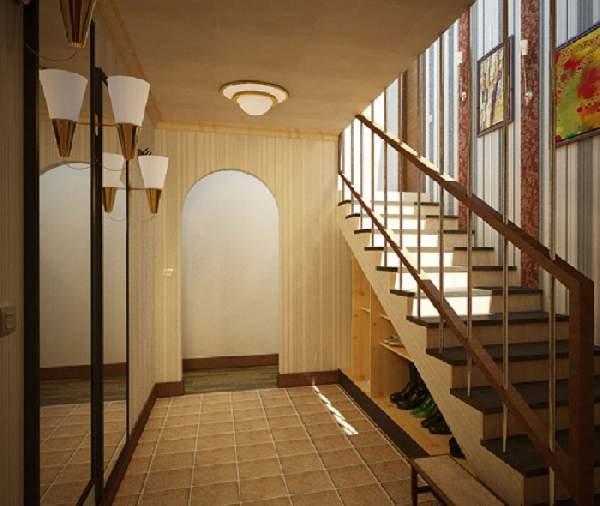 дизайн прихожей с лестницей, фото 21