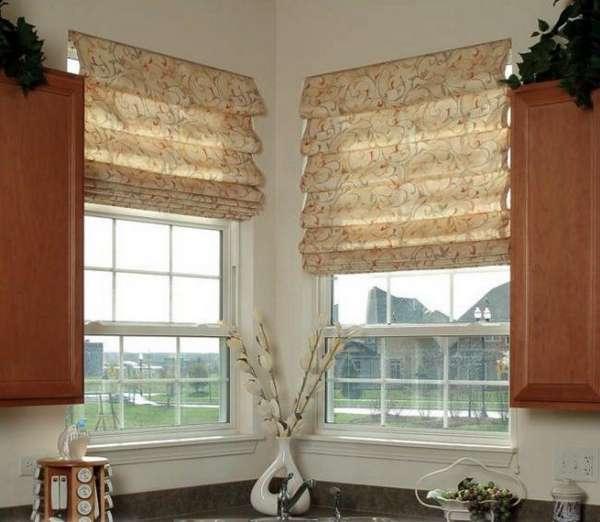 римские шторы на кухне на балконную дверь, фото 23