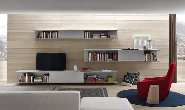 стенка горка в гостиную в современном стиле, фото 45