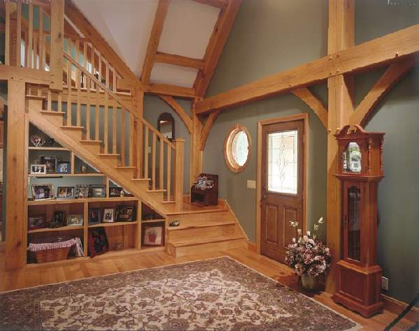 дизайн прихожей с лестницей, фото 22