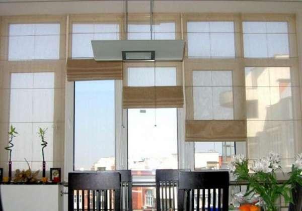 римские шторы на кухню с балконом, фото 26