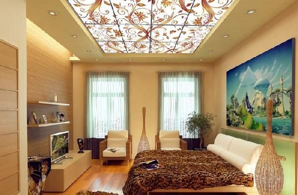 натяжные потолки фото для спальни матовые, фото 8