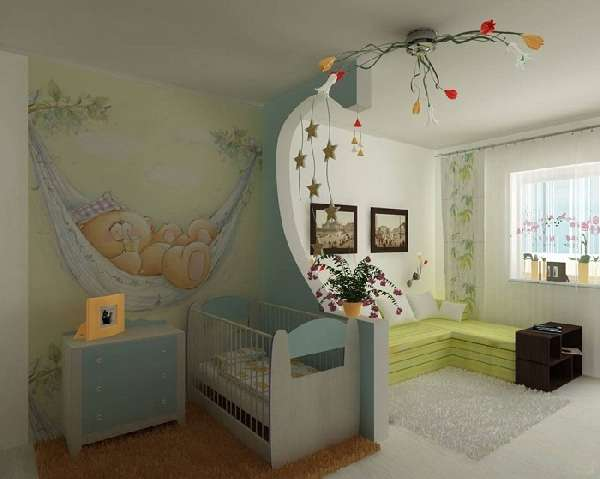 перегородки из гипсокартона для зонирования комнаты, фото 15