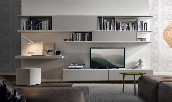 стенка горка в гостиную в современном стиле, фото 46