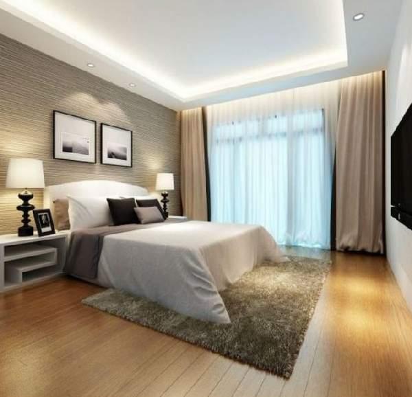 натяжные потолки фото для спальни матовые, фото 10