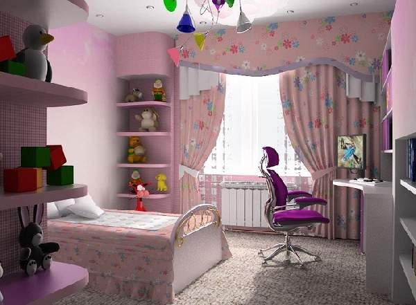 шторы в детскую комнату для девочки, фото 24