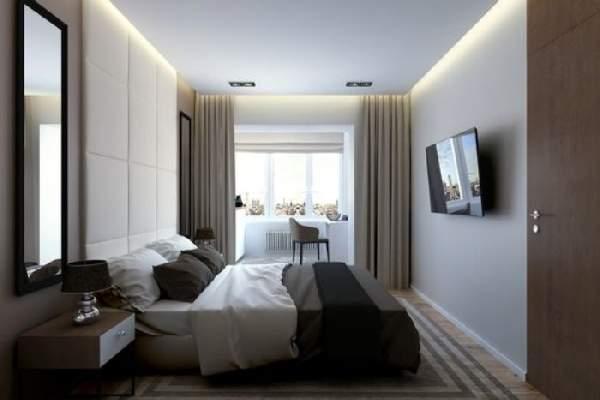 матовый натяжной потолок в спальне, фото 11